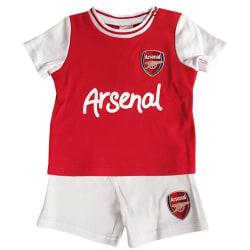 Arsenal FC Baby unisexskjorta & kort set 6-9 Months Röd vit