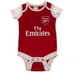 Arsenal FC Fly Emirates Baby Body (paket med 2) 9-12 Months Röd