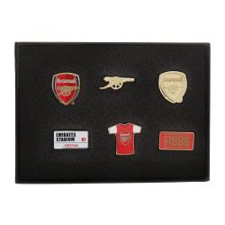 Arsenal FC Officiell 6 Piece Metal Football Crest Badge Set One