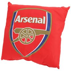 Arsenal FC Officiell fotbolls Crest Cushion 37cm x 37cm Röd