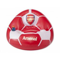 Arsenal FC Officiell fotbollsuppblåsbar stol One Size Röd vit