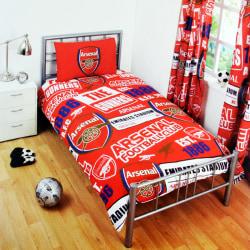 Arsenal FC Officiell Patch Fotboll Crest Täcke Set för barn / ba