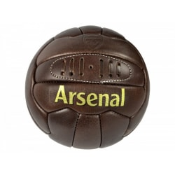 Arsenal FC Officiell Retro Heritage Leather Football 5 Brun