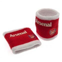 Arsenal FC Officiella armband (uppsättning av 2) One Size Röd