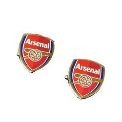 Arsenal FC Officiella fotboll Crest Metal manschettknappar One S