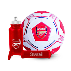 Arsenal FC Signatur fotbollsset One Size Röd vit