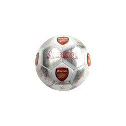 Arsenal FC Signaturfotboll 5 Silver / Röd