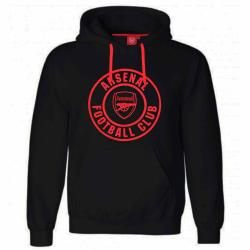 Arsenal FC Unisex vuxen crest hoodie XXL Svart