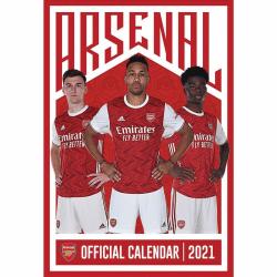 Arsenal FC Väggkalender 2021 A3 Röd vit