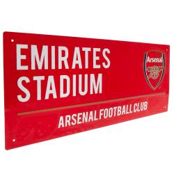 Arsenal FC Vägskylt One Size Röd