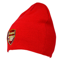Arsenal FC Vuxna unisex stickad mössa hatt One Size Röd
