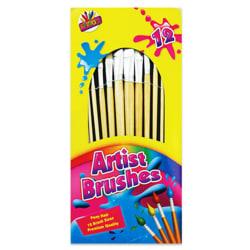 ArtBox 12 artister naturliga borstborstar One Size Flerfärgade