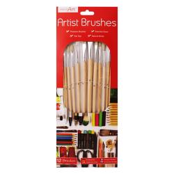 ArtBox 12 Naturliga borstborstar för konstnärer One Size Flerfär