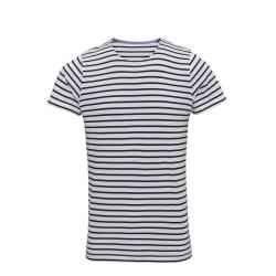 Asquith & Fox Herr Mariniere Coastal kortärmad T-shirt L Vit / N