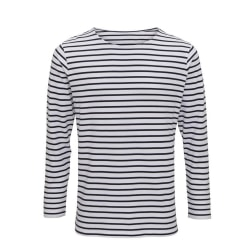 Asquith & Fox Herr Mariniere Coastal långärmad T-shirt XXL Vit /