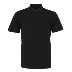 Asquith & Fox Kortärmad poloskjorta för män XL Svart