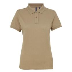 Asquith & Fox Kvinnor / damer kortärmad polo shirt M Kaki