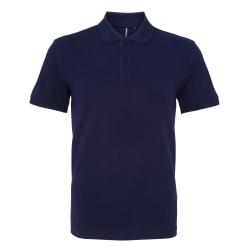 Asquith & Fox Poloskjorta för män, organisk klassisk fit 3XL Mar