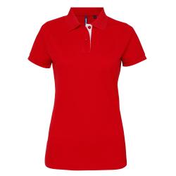 Asquith & Fox Poloskjorta med korta ärmar, dam / dam XL Turkos /