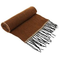 Asquith & Fox Unisex tvåfärgad halsduk One Size Brun