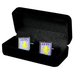 Aston Villa FC Officiella fotboll Crest Metal manschettknappar O
