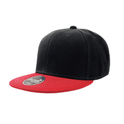 Atlantis Snap Back Flat Visor 6 Panel Cap (paket med 2) One Size