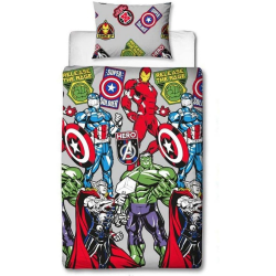 Avengers Emblem påslakanset Single Flerfärgade