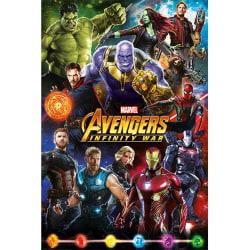 Avengers Infinity War Poster One Size Flera färger