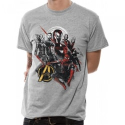 Avengers Unisex Adults Good Mix T-shirt XL Grå