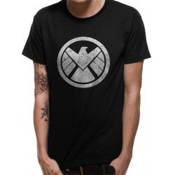 Avengers Unisex Vuxna Shield Design T-shirt S Svart