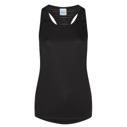 AWDis Just Cool Womens / Ladies Smooth Workout Vest XXS Jet Svar