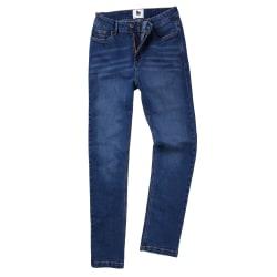 AWDis Så Denim Dam / Damer Katy Straight Ben Jeans 10/R Mid Wash