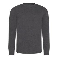 AWDis Tri-Blend T-shirt för långärmad herrar M Heather Charcoal