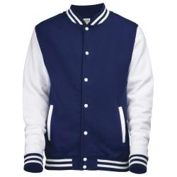 Awdis Unisex Varsity Jacka M Oxford Navy / White