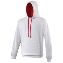Awdis Varsity Hooded Sweatshirt / Hoodie S Arktisk vit / varmros