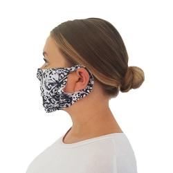 AXQ Unisex ansiktsmask för vuxna (50-pack) One Size Vit svart