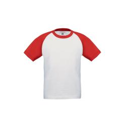 B&C Childrens Boys kortärmad baseboll-T-shirt 12-14 Years Vi