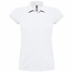 B&C Dam- / damskjorta poloskjorta med kortärmad bomull L Vit