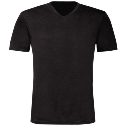 B&C Herr Exakt V-Neck kortärmad T-shirt M Svart