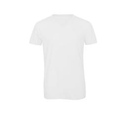 B&C Herr favorit Triblend V-Neck T-shirt 2XL Vit