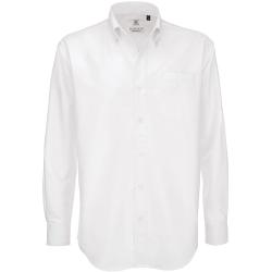 B&C Mens Oxford långärmad skjorta / herrtröjor 3XL Vit