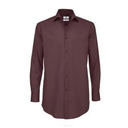 B&C Mens svart slips långärmad formell arbetsskjorta 4XL Lyx