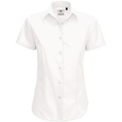 B&C Smart kortärmad poplintröja / damskjortor för damer XL V