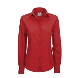 B&C Smart långärmad poplintröja för damer / skjortor för dam