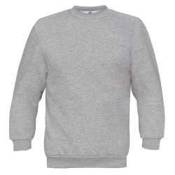 B&C Unisex Set i modern snitt Crew Neck-tröja 3XL Heather Gr