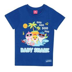 Baby Shark Girls Family Shades T-shirt 2-3 år marinblå