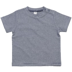 Babybugz Baby randig T-shirt 12/18 Months Vit / nautisk marin