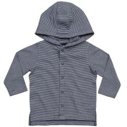 Babybugz Baby Stripy Hooded T-shirt 12/18 Months Vit / nautisk m