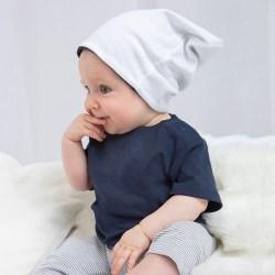 Babybugz Baby Unisex vändbar slouchhatt One Size Vit / nautisk m