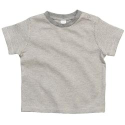 Babybugz Randig T-shirt med pojkar 3-6 Months Vit / Heather